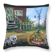 Trick Or Treat Night 5 Throw Pillow