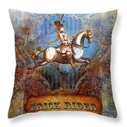 Trick Rider Throw Pillow