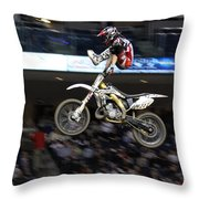 Trick Rider Throw Pillow