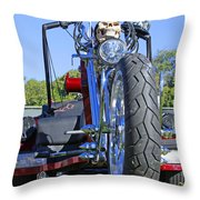 Tricycle Of Death Throw Pillow