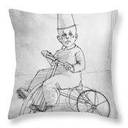 Trike Throw Pillow