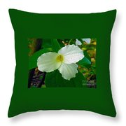 Trillium In The Forest Throw Pillow