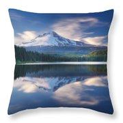 Trillium Lake Escape Throw Pillow