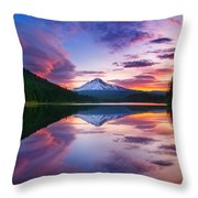 Trillium Lake Sunrise Throw Pillow
