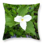 Trillium - White Beauty Throw Pillow