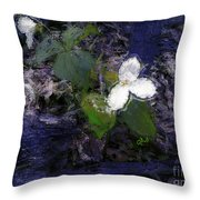 Trilliums Throw Pillow
