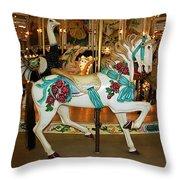 Trimper's Carousel 3 Throw Pillow