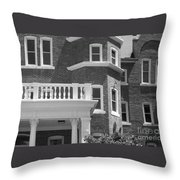 Trims And Courses Black And White Throw Pillow