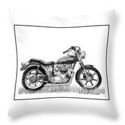 Trimuph In Black And White Throw Pillow