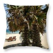 Trincomalee Palms Throw Pillow