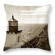 Trinidad Head Light Humboldt County California 1910 Throw Pillow