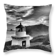 Trinidad Light In Black And White Throw Pillow by Adam Jewell