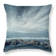 Trinidad State Beach In Infrared Throw Pillow