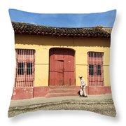 Trinidad Streets Cuba Throw Pillow