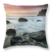 Trinidad Sunset Seascape Throw Pillow