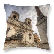 Trinita Dei Monti Church Throw Pillow