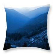 Trinity #2 Enhanced In Blue Throw Pillow