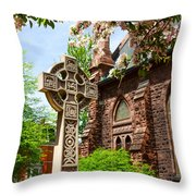 Trinity Church Garden  7d02024 Throw Pillow