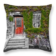 Trinity College Dorm - Dublin Ireland Throw Pillow