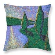 Trinity River Throw Pillow