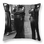 Trio Of Arm Crossers San Francisco California 1972 Throw Pillow