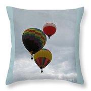 Trio Of Balloons 2 Throw Pillow