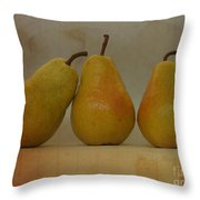 Trio Of Pears Throw Pillow