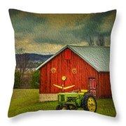 Trip To The Happy Farm Throw Pillow