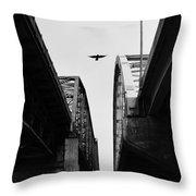 Triple Bridges Throw Pillow