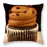 Triple Chocolate Cupcake Throw Pillow