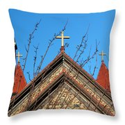 Triple Cross 4 Throw Pillow