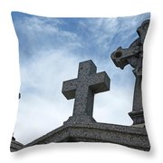 Triple Crosses Throw Pillow