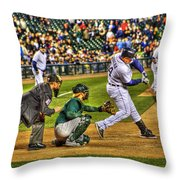 Triple Crown Winner Detroit Tigers Miguel Cabrera Throw Pillow