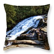 Triple Falls II Throw Pillow