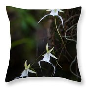 Triple Ghost Throw Pillow
