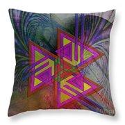 Triple Harmony - Square Version Throw Pillow