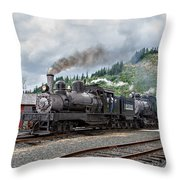 Triple Header In Color Throw Pillow