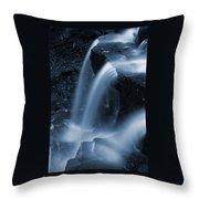 Triple Plunge Twilight Waterfall Throw Pillow