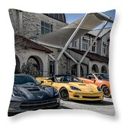 Triple Threat Throw Pillow