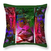 Triptych Chic Throw Pillow