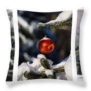 Triptych - Christmas Forest - Featured 3 Throw Pillow