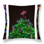 Triptych - Christmas Trees - Featured 3 Throw Pillow