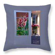 Triptych Display Sample 04 Throw Pillow
