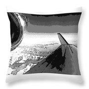 Red White Black An White Blue An White Jet Pop Art Planes. Throw Pillow