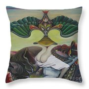 Triptych Middle Throw Pillow