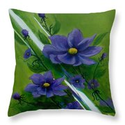 Floral Triptych 1 Throw Pillow