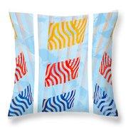 Triptych Sunrise 1 Throw Pillow