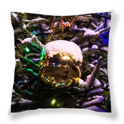 Triptych - Traffic Lights Christmas - Featured 2 Throw Pillow