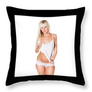 Triptychon Beautiful Nude Blonde 4 Throw Pillow