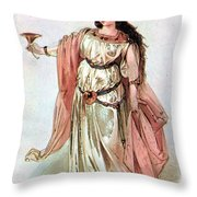 Tristan And Isolde, 1865 Throw Pillow